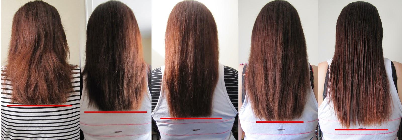 Pousse de cheveux en 10 mois