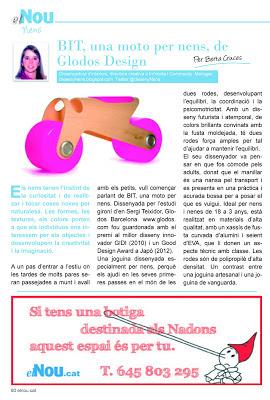 BIT de Glodos design a la revista El Nou guia del Baix Empordà