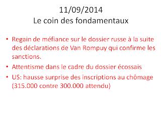 nouvelles boursières 11/09/2014