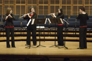 Performing at the Sydney Flute Festival