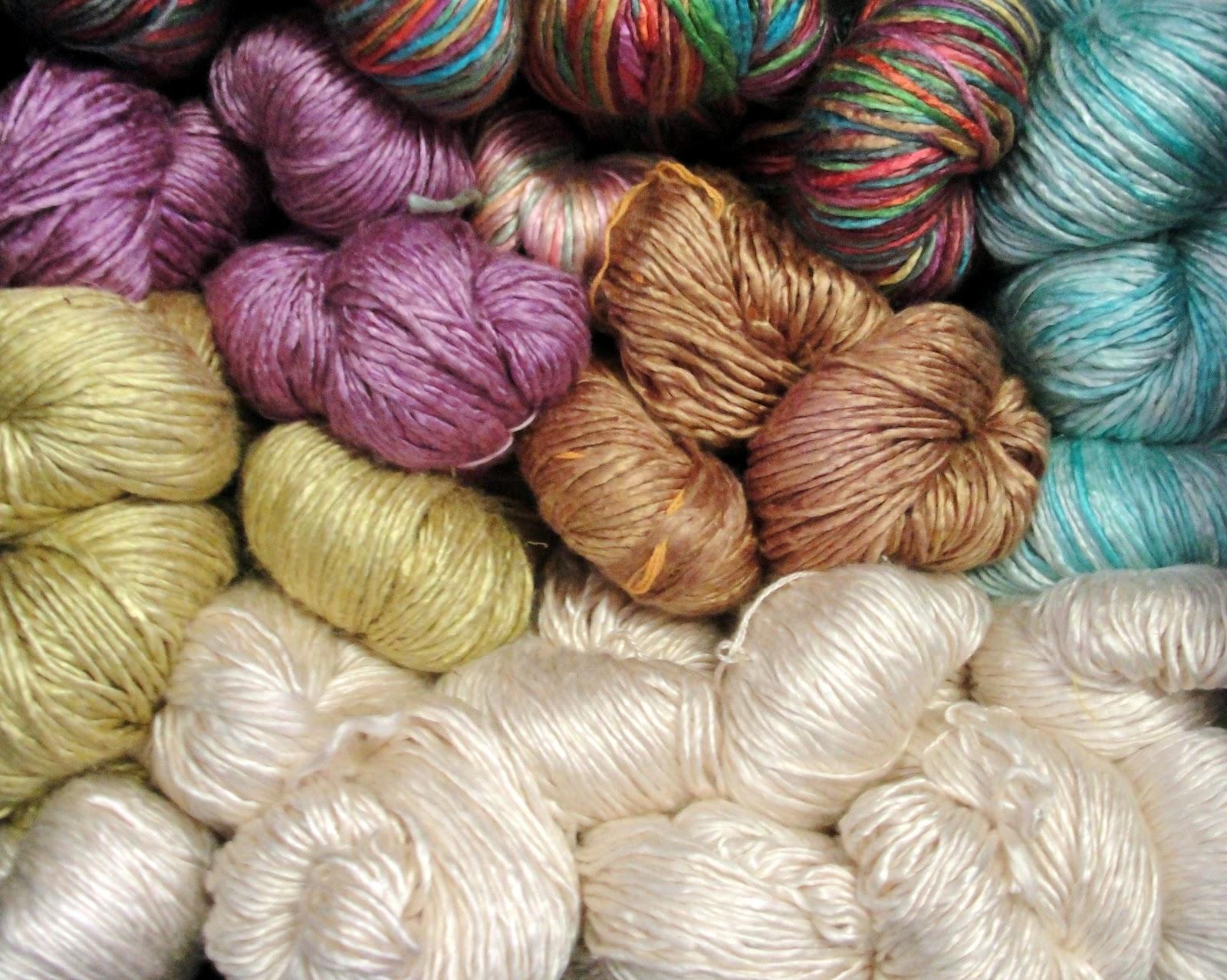 Silk Yarn : the amber threads blog: Duke Silk Yarn shelf