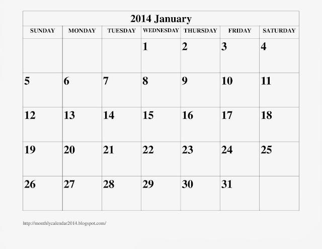 january 2014 calendar printable 16 printable calendar 2014 blank