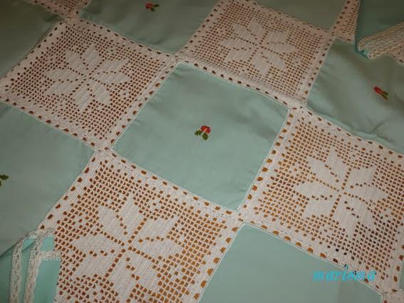 El costurero de marisa manteler a combinada punto de cruz - Como hacer una manteleria ...