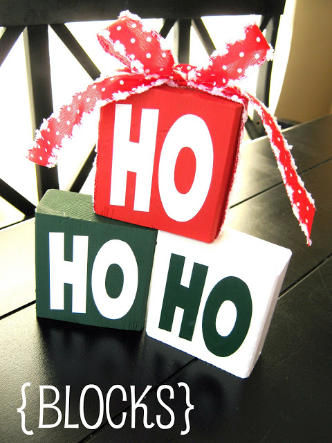 Ho Ho Ho Blocks!! So cute!! This would make a great gift!
