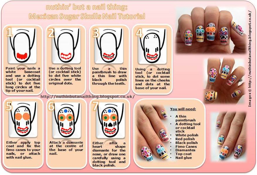 Nuthin but a nail thing mexican sugar skulls monday 19 november 2012 i saw these mexican sugar skulls prinsesfo Image collections