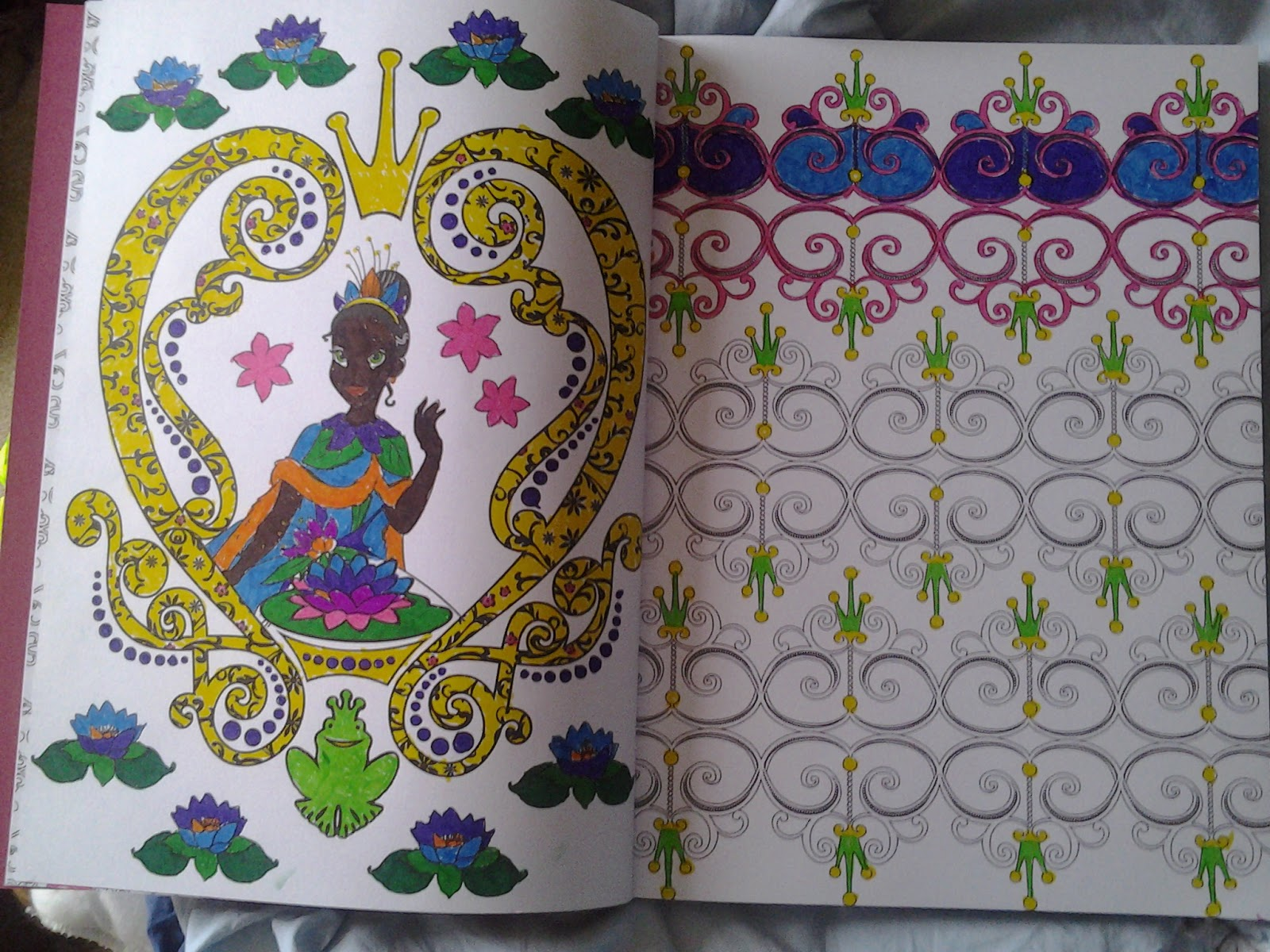 No Gaming But I Relaxed With Colouring In Of These Pages Fro A Super Cute Disney Princess Art Therapy Book