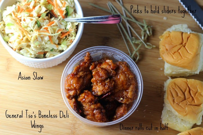 Easy Sweet and Spicy General Tso's Wings Sliders | Renee's Kitchen Adventures