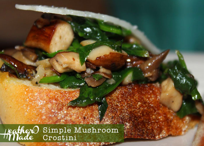 Simple Mushroom Crostini heatheromade
