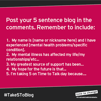 Take 5 To Blog Time to Change