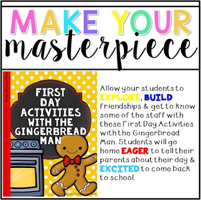 https://www.teacherspayteachers.com/Product/First-Day-Activities-with-the-Gingerbread-Man-1938761