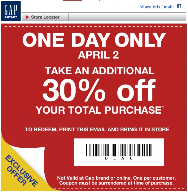 Gap outlet canada printable coupon