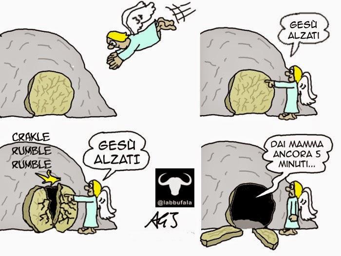 pasqua, resurrezione, vignetta, umorismo