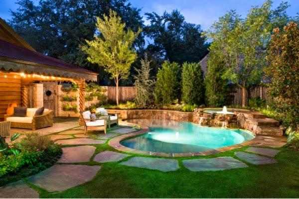 maison piscine jardin