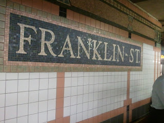 Franklin Street Subway sign in tile