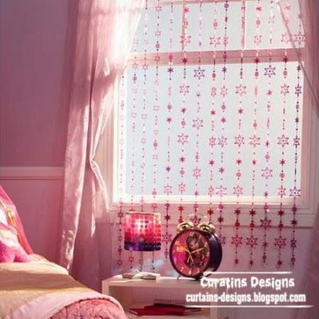 Beaded curtains top catalog of beaded curtains designs for Curtain designs for girls bedroom