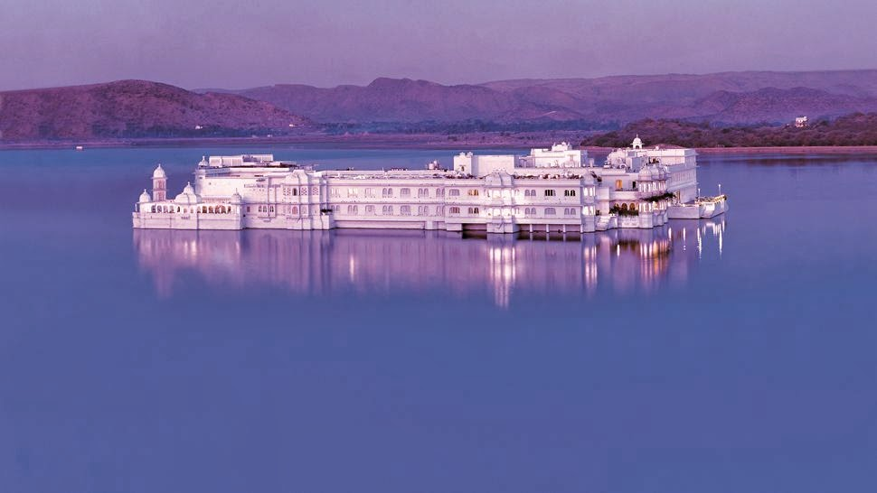 Taj Lake Palace floating over Lake Pichola in Udaipur
