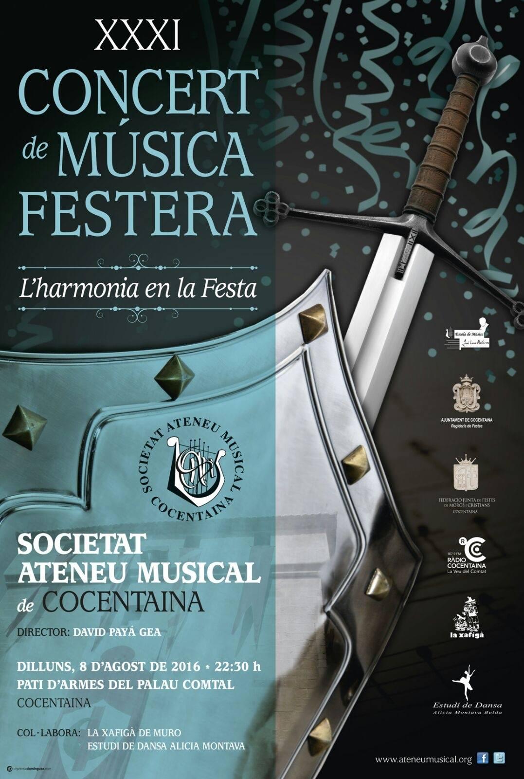 XXXI CONCERT de Música Festera, de la SOCIETAT ATENEU MUSICAL DE COCENTAINA