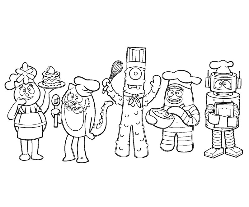 yogabbagabba coloring pages - photo #12
