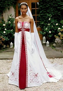Red bride dresses