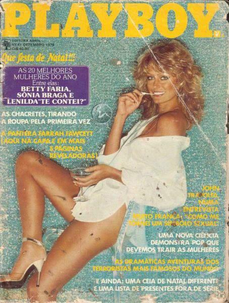 Confira as fotos de Farrah Fawcet, capa da Playboy de dezembro de 1978!
