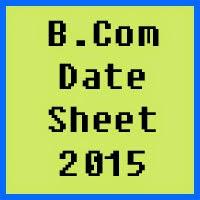 Punjab University PU Lahore B.Com Date Sheet 2016 Part 1, 2