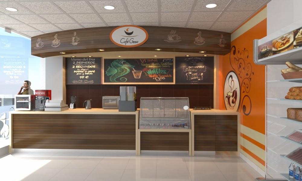 Dise o y construccion de cafe gesa grifos espinoza tablada for Diseno locales comerciales