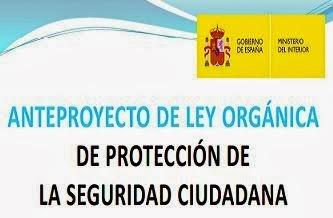 ANTEPROYECTO DE LEY PARA LA PROTECCIÓN DE LA SEGURIDAD CIUDADANA