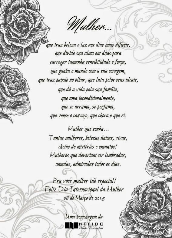 Mensagem em Homenagem ao Dia Internacional da Mulher