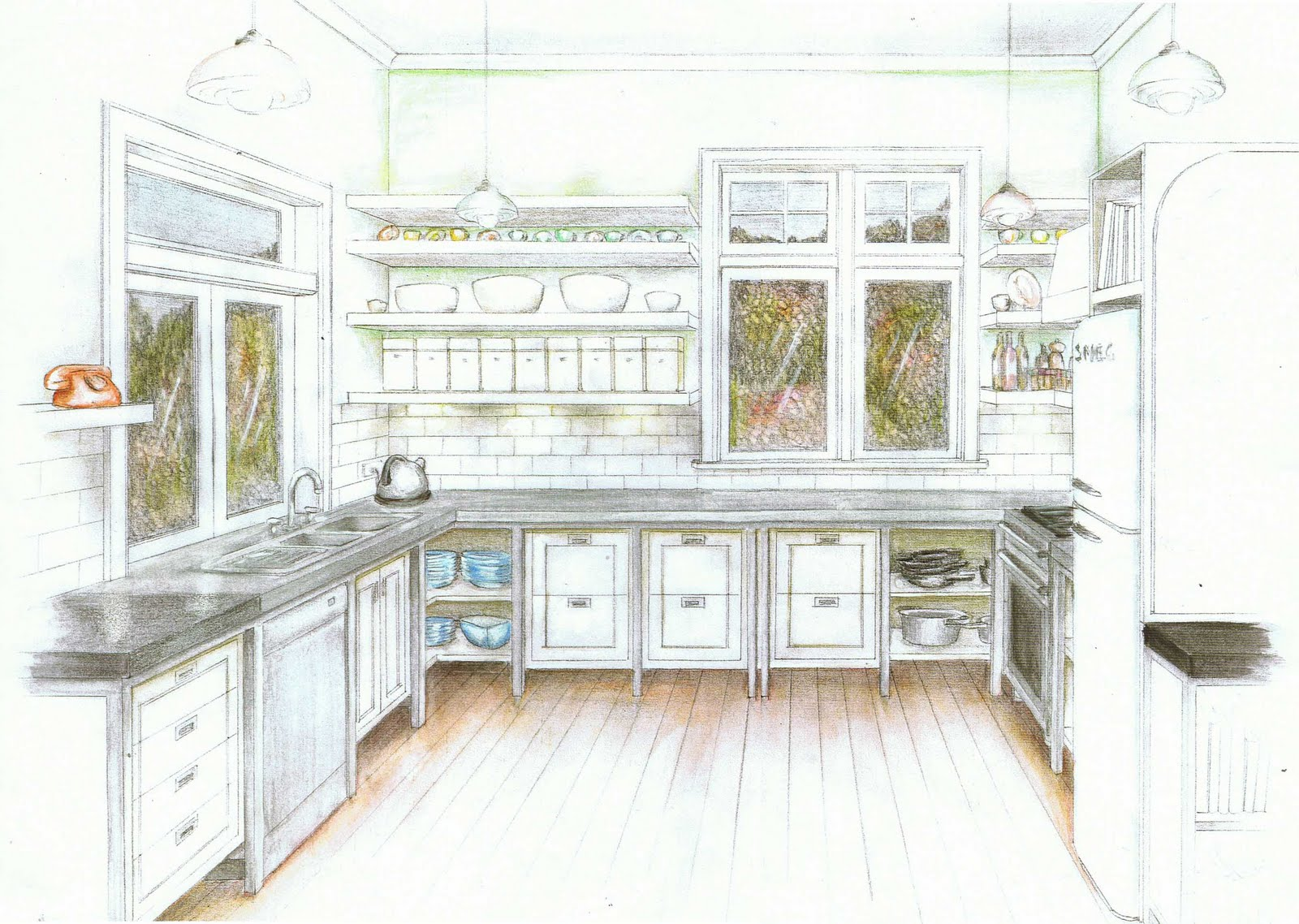 Excellent Kitchen Design Drawings 1600 x 1138 · 330 kB · jpeg