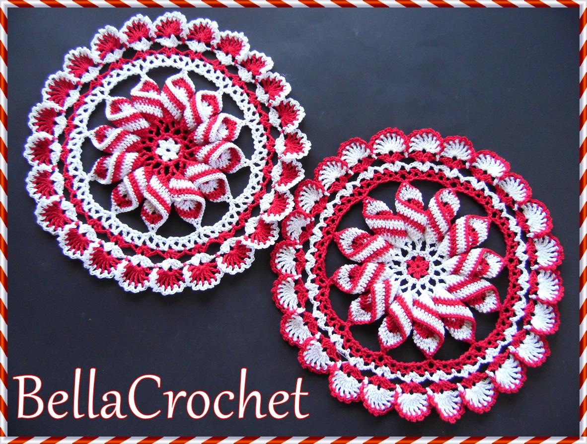 BellaCrochet: Peppermint Pinwheel Doily: A Free Crochet Pattern For You