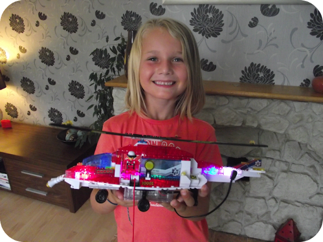 Lewis with his finished copter