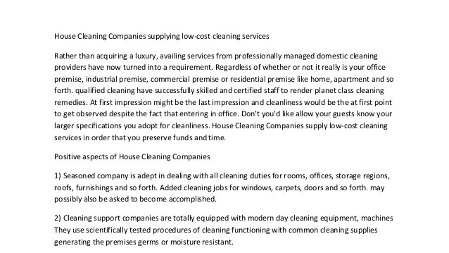 Cleaner - Cost Of House Cleaning Services