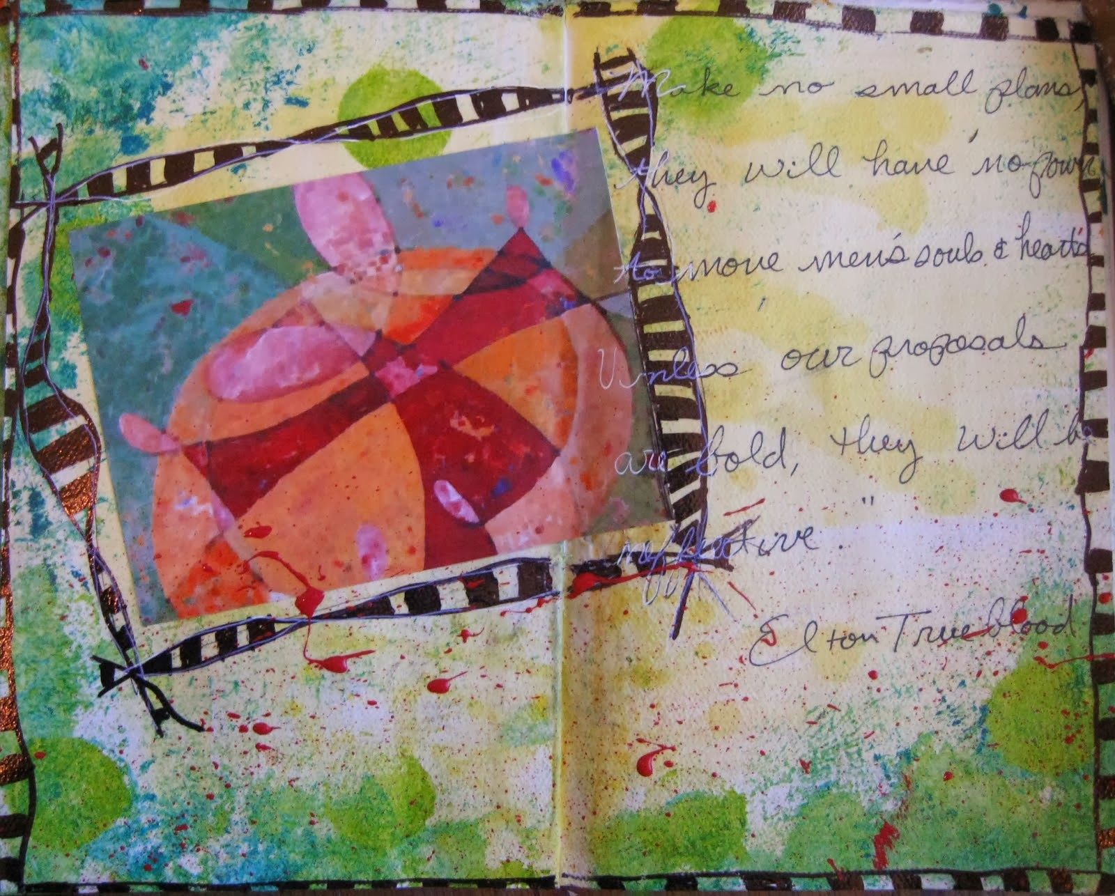 Faux-toshop Collage Art Journal Page