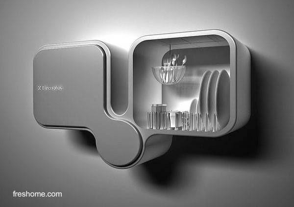 Lavavajilla innovador montado en la pared