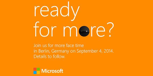 Microsoft IFA 2014 invite