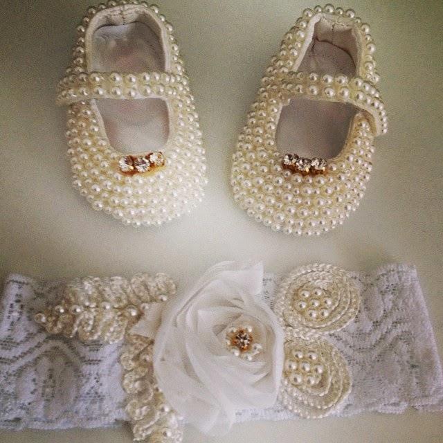 Lily baby shop especial sapatinhos de bebes - Diademas para bebes bautizo ...
