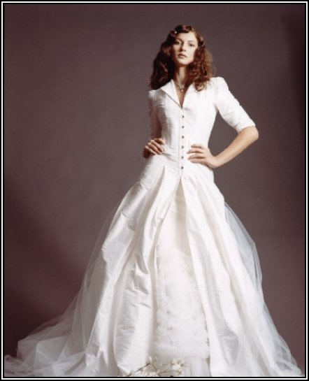 Winter wedding dress designs with snow white wedding dressees and