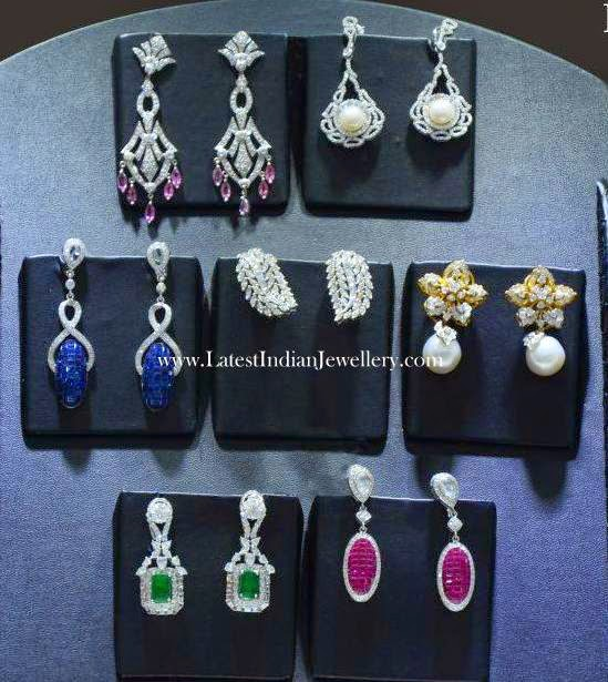 Party Wear Diamond Earrings Collection