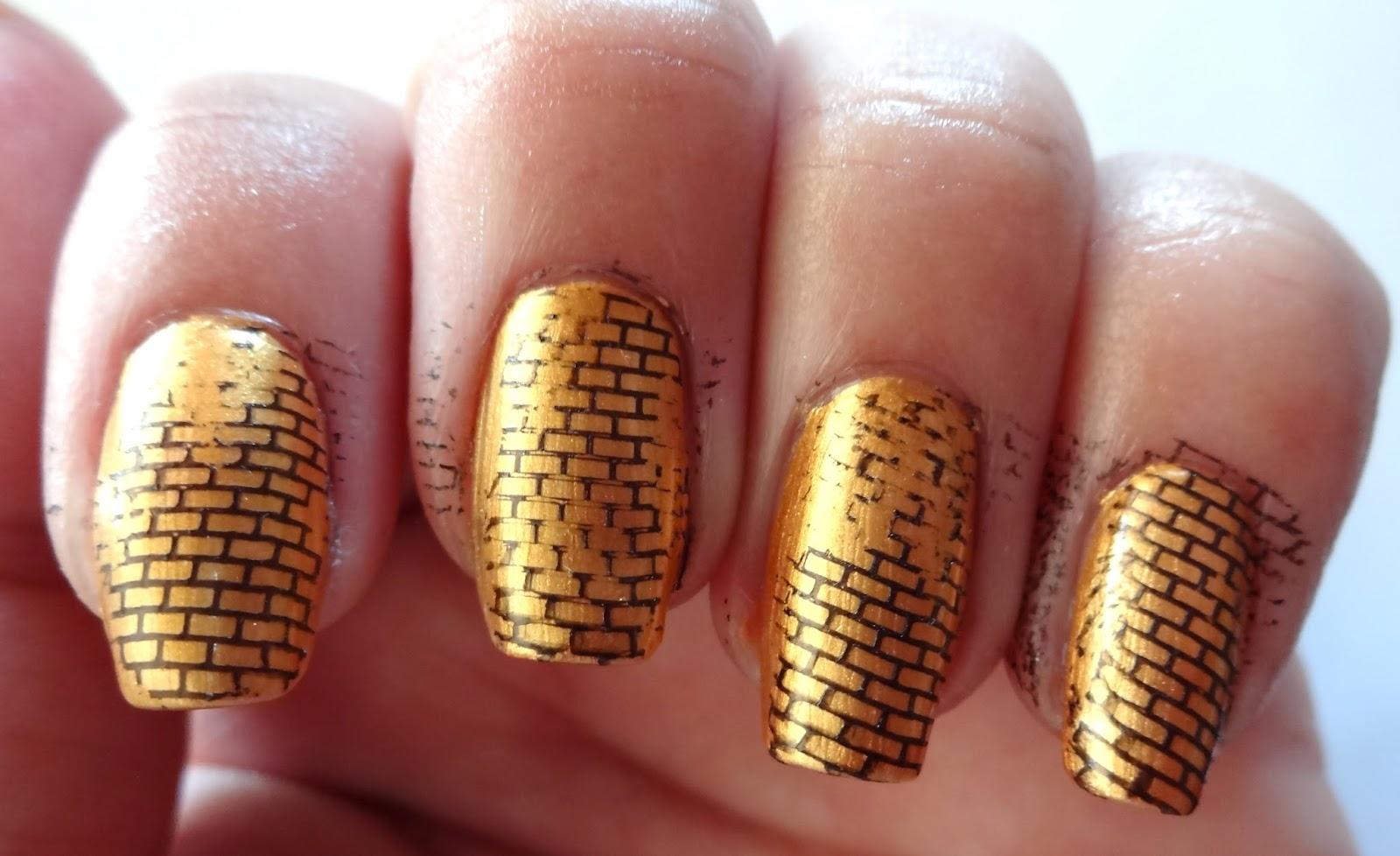 Brick stamped nails