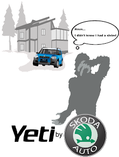 Skoda Yeti Advertising Drawing