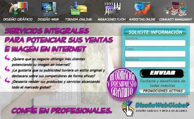 landing page Diseño Web Global