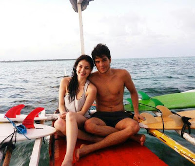 Anne Curtis and Erwan Heussaff in Siargao Island