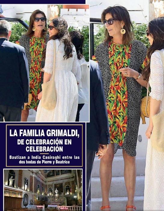 Andrea Casiraghi and Tatiana Santo Domingo, Princess Caroline of Hanover, Beatrice Borromeo, Pierre Casiraghi, Charlotte Casiraghi - Princess Charlene of Monaco