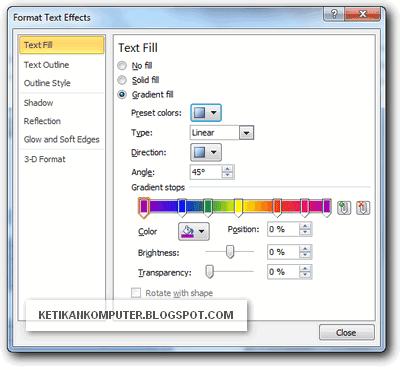 Memberi warna gradients pada teks