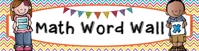 Math Word Wall Clipart