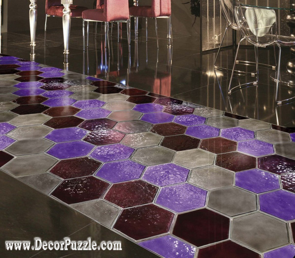 creative flooring ideas and flooring options purple floor tile - Unique Tile Floors