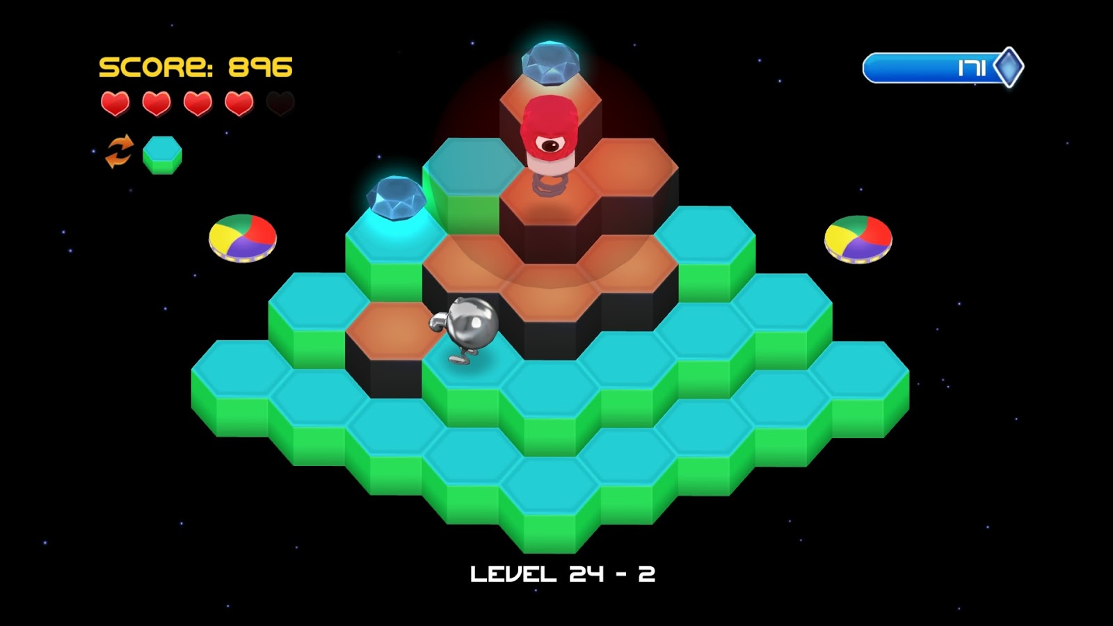 Controls Are Way Too Touchy While The Original Game Was Designed Around Hopping On Cubes Rebooted Puts You In A Field Of Hexagons