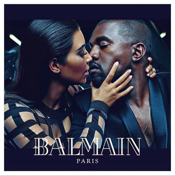 Kim Kardashian and Kanye West star designer campaign | Couple posed for Balmain
