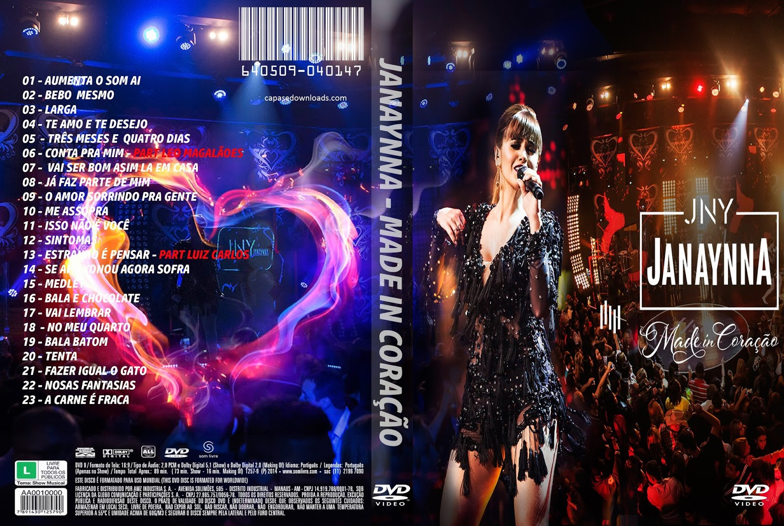 Download Janaynna Made In Coração DVD-R janaynna made in coracao