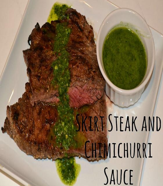 Skirt Steak With Chimichurri Sauce Recipe — Dishmaps